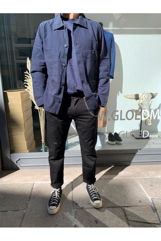 GIACCA IN COTONE - BLUE NAVY